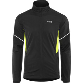 GORE WEAR R3 Partial Gore Windstopper Jacket Herre black/neon yellow
